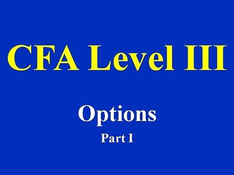 CFA Level III: Derivatives - Options Part I (of 2)