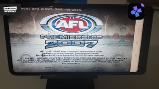 AFL Premiership 2007 DamonPS2 Pro PS2 Games on smartphones/Android/Gameplay