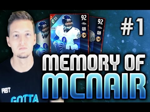 THE RETURN OF THE ROAD TO GLORY! - Memory Of McNair #1 | Madden 17 Ultimate Team RTG