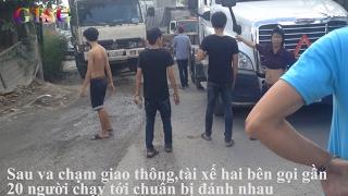 Gần 20 người muốn đánh nhau sau va chạm giao thông