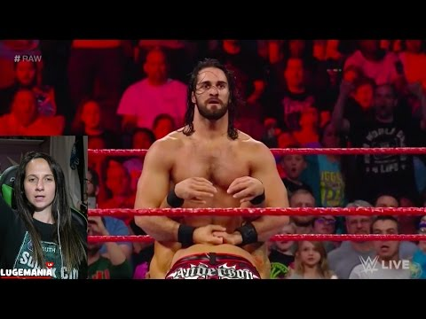 WWE Raw 4/24/17 Finn Seth Cass vs The Club Samoa Joe