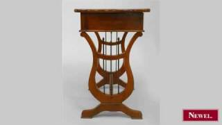 Antique Continental Austrian Mahogany End Table With A