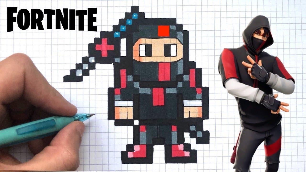 How To Draw Ikonik Pixel Art Skin Fortnite