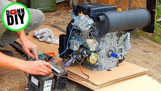 V-Twin 20 HP Rotek Engine Startup - Tracked Amphibious Vehicle Build Ep. 1
