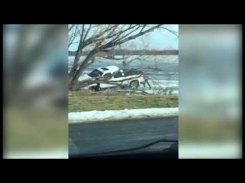 Vehicle Goes Through Ice On Lake Bemidji