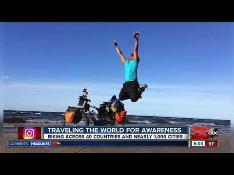 An India native is traveling the world by bike, started world tour on November 10, 2014