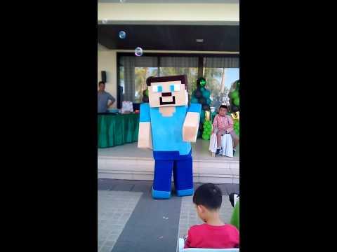 Minecraft Mascot Steve Dance Number