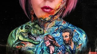 Jurassic World Fallen Kingdom Body Paint / Make Up - Chris Pratt / Bryce Dallas Howard / Trex