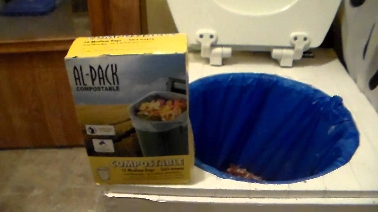 diy composting toilet living in an rv full time - YouTube