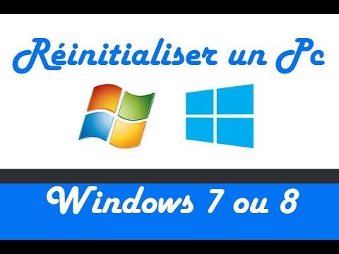 reinitialiser un pc windows 7 ou 8 a ses valeurs d usine