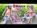 Super Speed on the Razor Pocket Mod Betty Electric Scooter! | Crazy8Family