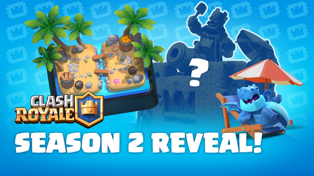 Clash Royale: Season 2 Update!  First look at a NEW Pass Royale, Tower Skin & Arena! TV Royale