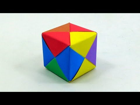 How To Make a 3D Paper Cube   DIY Paper Carft Ideas