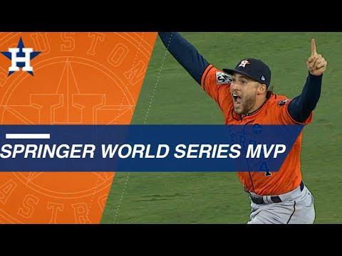 George Springer's five Series HRs earn him 2017 WS MVP honors