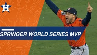 George Springer slugs five World Series home runs to earn MVP honors