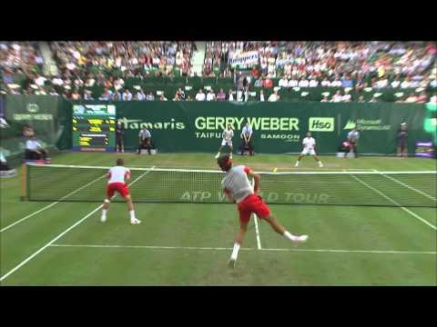 Gerry Weber Open 2014 Viertelfinale: Federer/Chiudinelli vs Falla/Giraldo