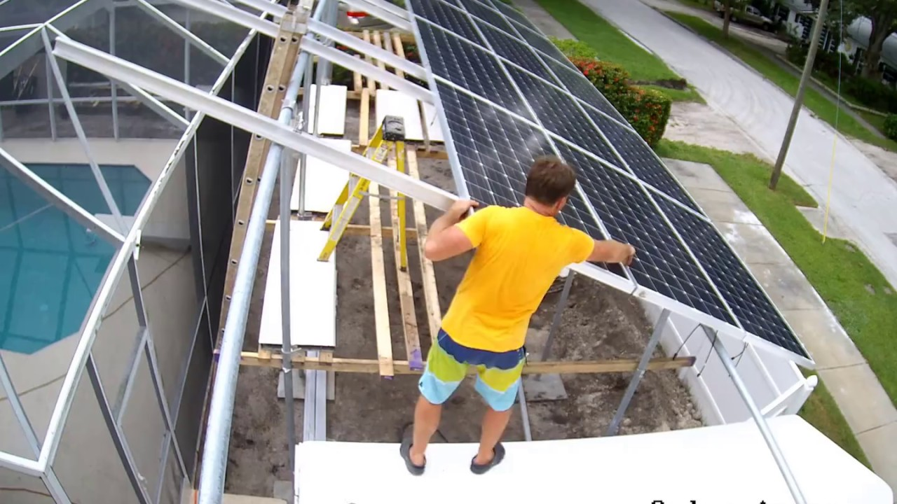 Installing 25 Solar Panels On Ground Mount Do It Yourself