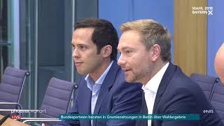 Pressekonferenz der FDP zum Ausgang der Landtagswahl in Bayern am 15.10.18