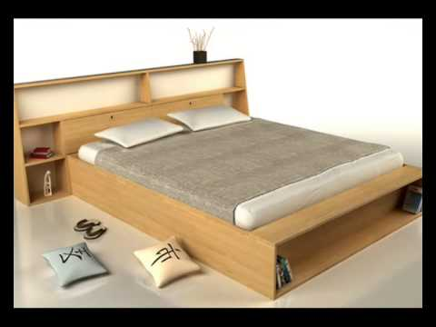 lit en bois massif lit futon youtube. Black Bedroom Furniture Sets. Home Design Ideas