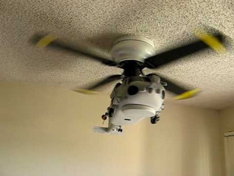 Sea Hawk Helicopter Ceiling Fan Youtube