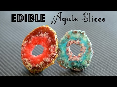 DIY Edible Agate Slices // DIY Candy Rocks and Crystals! // Faux Geode Agate Slice // Edible DIY