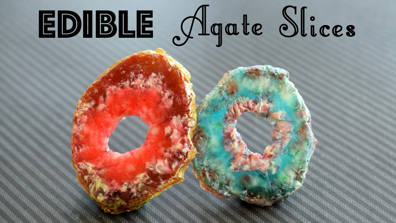DIY Edible Agate Slices DIY Candy Rocks And Crystals