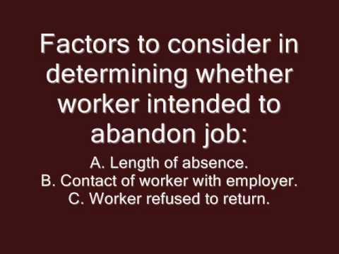 The ECA Presents Job Abandonment - Visit us wwwecattorg - YouTube