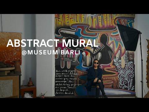 Mural Art Indonesia - Abstract Mural @Museum Barli, Bandung, Indonesia