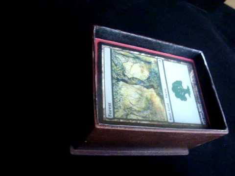 CUSTOM MADE MAGIC THE GATHERING DECK  BOX VIDEO.MPG