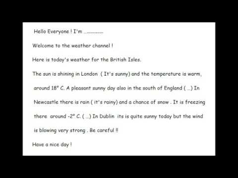 Script Weather Forecast - YouTube
