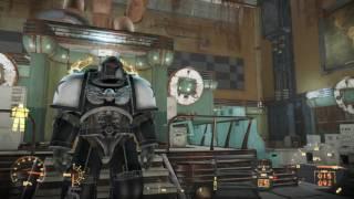 Fallout 4 Space Marine Armor + Railgun ANALYSIS ALL skills