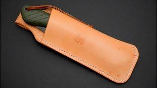 Bacho Laplander Custom Leather Sheath (and Silky GOMBOY)