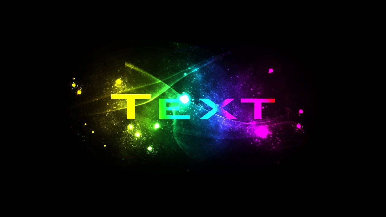 Photoshop Tutorial : Spectrum Color text effect - YouTube