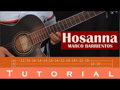 Hosanna - Marco Barrientos (Tutorial guitarra, intro, solo, tabs, acordes)