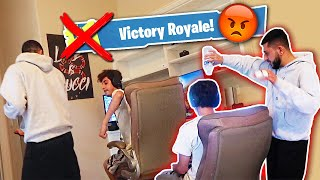 MAKING FaZe Rug LOSE IN FORTNITE! *PISSED OFF*