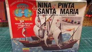Lindberg Pyro Nina Pinta Santa Maria Columbus 1492 Diorama Model Ki...