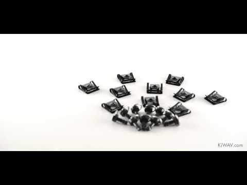 KiWAV- Quick Release Fairing Fasteners Clip on Black 17mm