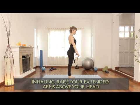 How to do chest exercises with a band : Pilates Exercises 5