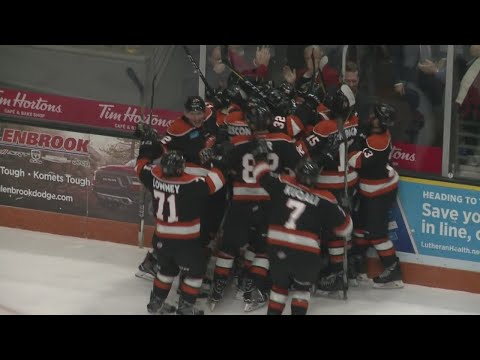 Martineau scores in OT to give Komets a comeback win on 12/10/18
