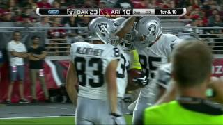George Atkinson Jukes to the Outside for a 53-yard TD Run! | Raiders vs. Cardinals | NFL