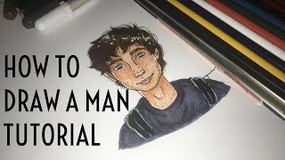 How To Draw a Man Tutorial | Nitra ♡