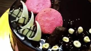 Pink Macaroons Overloaded Chocolate Cake