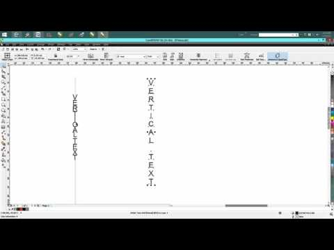 Corel Draw Tips & Tricks Vertical Text THE easy way