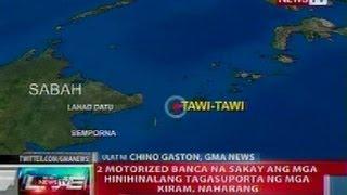 NTL: 2 motorized banca na sakay ang mga tagasuporta ng mga Kiram, naharang