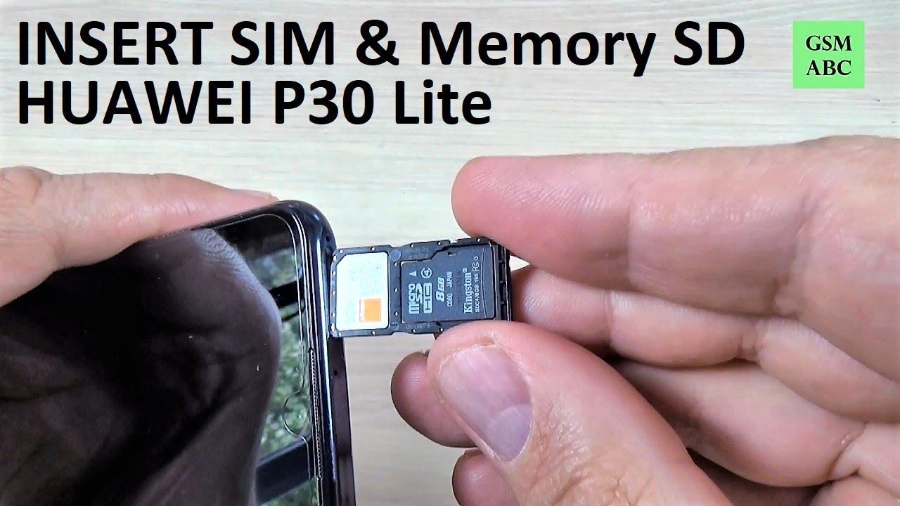 Insert Sim Memory Sd Card Huawei P30 Lite 2019 Youtube
