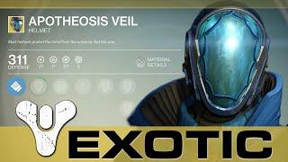 Destiny - Exotic Warlock Helmet! APOTHEOSIS VEIL!