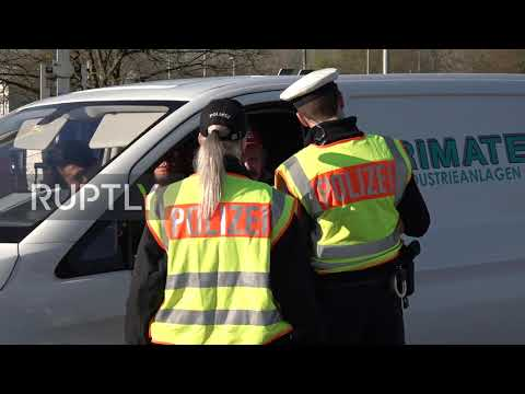 Germany: Police Control Vehicles At French Border Amid Coronavirus Travel Restrictions