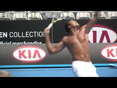 Jo-Wilfried Tsonga Practice Session