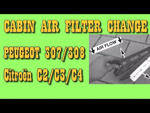 CABIN AIR (POLLEN) FILTER CHANGE ON Citroën C2/ C3/ C4/ Picasso/ DS4 and Peugeot 307/ 308/ 1007