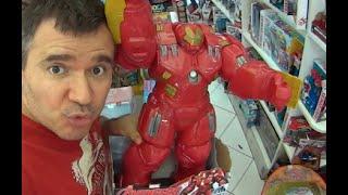 Homem de Ferro Iron Man Armadura Armor Hulk Buster Marvel Avengers Era de Ultron Brinquedos Toys
